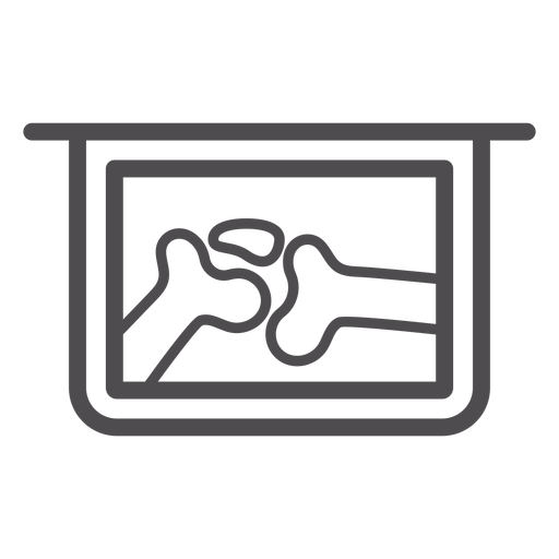 Joint X Ray Stroke Icon