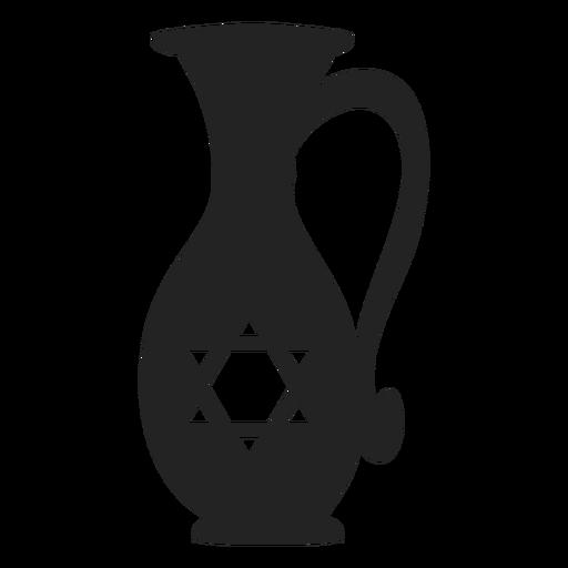 Hanukkah Oil Jug Icon Hanukkah