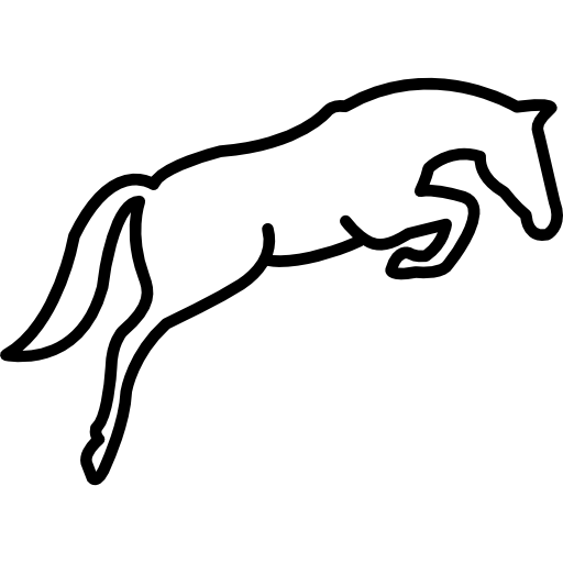 Jumping Horse Outline Icons Free Download