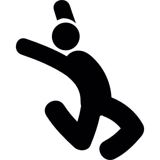 Jumping Man Silhouette Icons Free Download