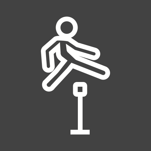 Jumping Icon Free Of Sports Activities