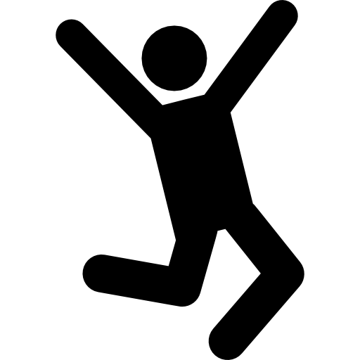 People Jumping Flat Icon