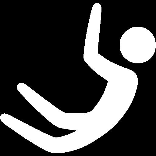 White Base Jumping Icon