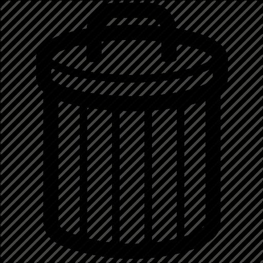 Basket, Bin, Delete, Junk, Rubbish, Trash Icon