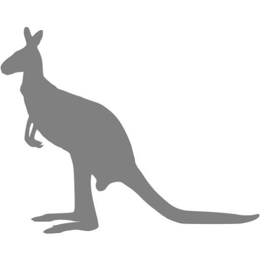 Gray Kangaroo Icon