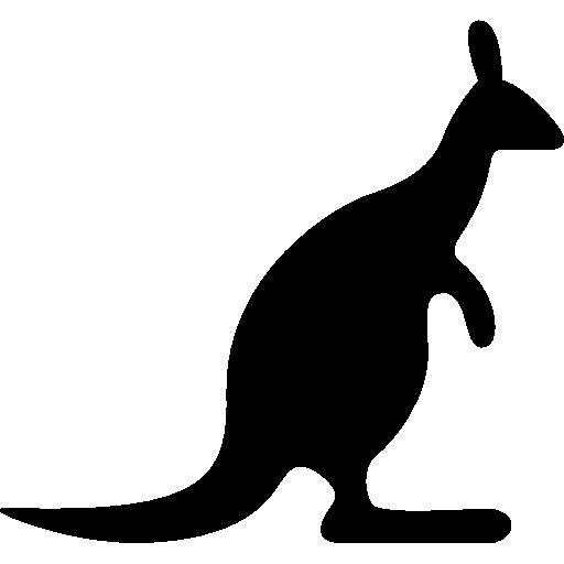 Kangaroo Looking Right Icons Free Download