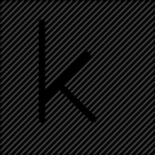 K, Kappa, Kay, Letter, Lowercase, Mathematics, Physics Icon