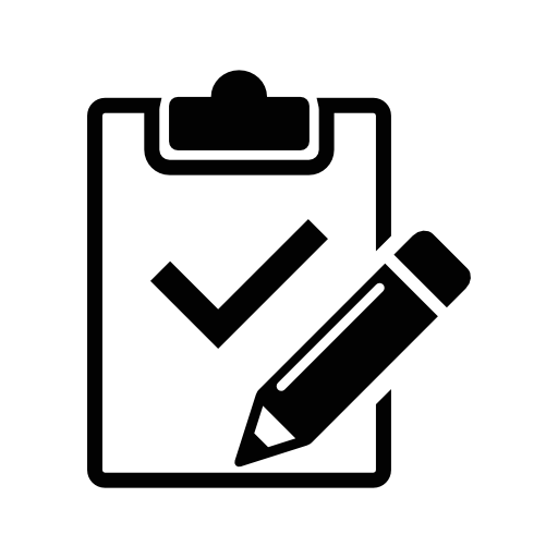 Clipboard Variant With Pencil And Check Mark Variant Free Vector