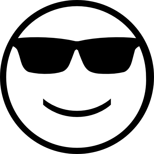 Smiling Face With Sunglasses Icons Free Download