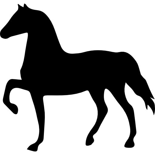 Horse Black Shape Facing To Left Free Vector Icons Designed