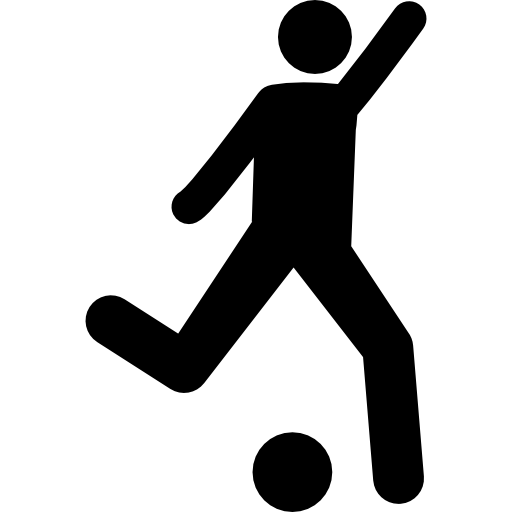 Football Player Attempting To Kick Ball Icons Free Download