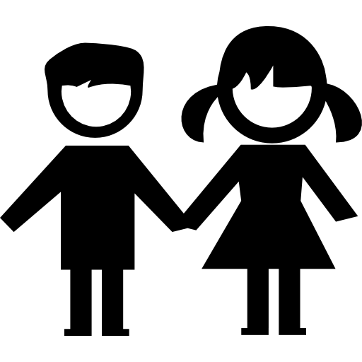 Kids Couple Icons Free Download