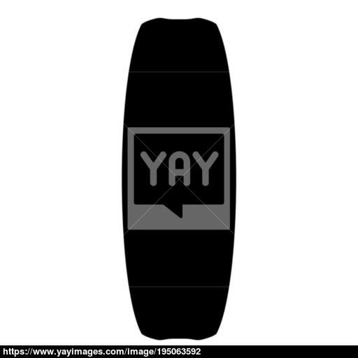 Board For Kiteboard Sport Icon Black Color Vector