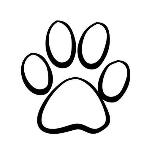Paw Print Cute Art For Kids Tattoos, Paw Print Clip Art, Cat