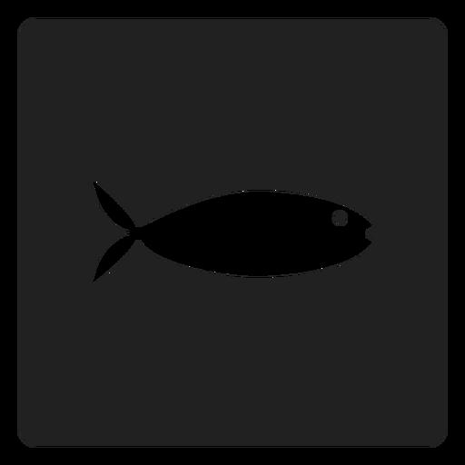Flat Fish Square Icon