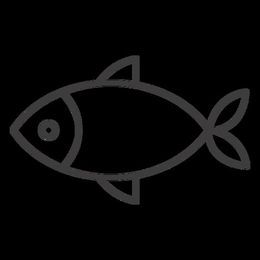 Simple Fish Stroke Icon