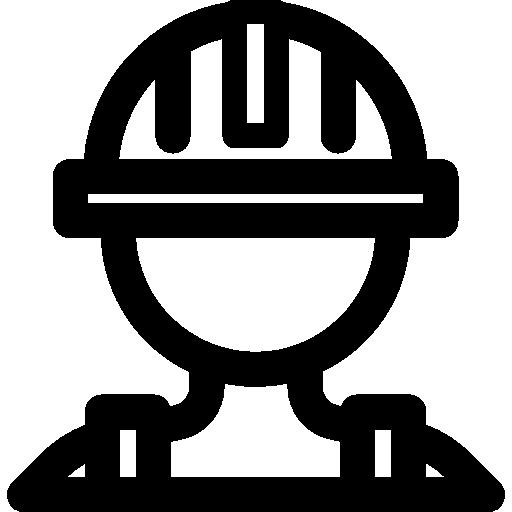 Helmet, Construction, Cogwheel, Gear, Worker Icon