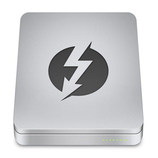 Thunderbolt Icon Unibody Drive Iconset Komfort Zone