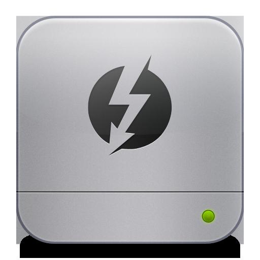 Thunderbolt Icon Unibody Hd Flurry Style Iconset Komfort Zone