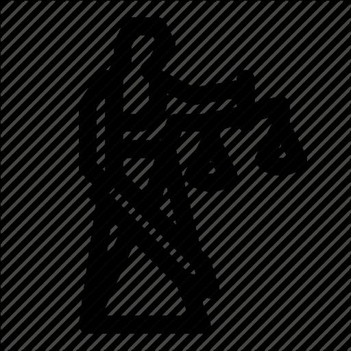 Justice, Lady Justice, Law, Scales, Sword Icon