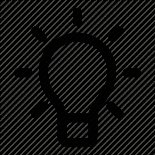 Brainstorm, Bulb, Idea, L Think Icon