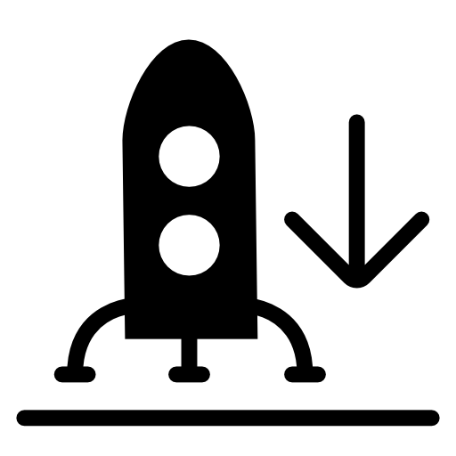 Rocket Rocket Landing Icon Download Free Icons