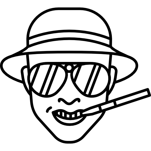 Raoul Duke Fear And Loathing In Las Vegas Icons Free Download