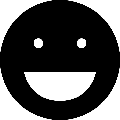 Laughing Black Emoticon Face