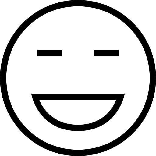 Laughing Emoticon Outlined Face Icons Free Download