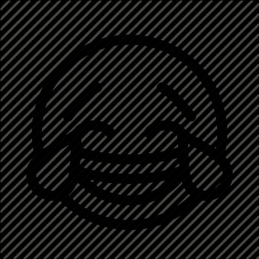 Crying, Emoji, Emoticon, Happy, Joyful, Laughing, Smiley Icon