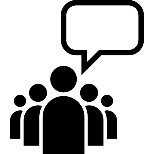 Leader Of A Group With An Empty Speech Bubble Icons Free Download