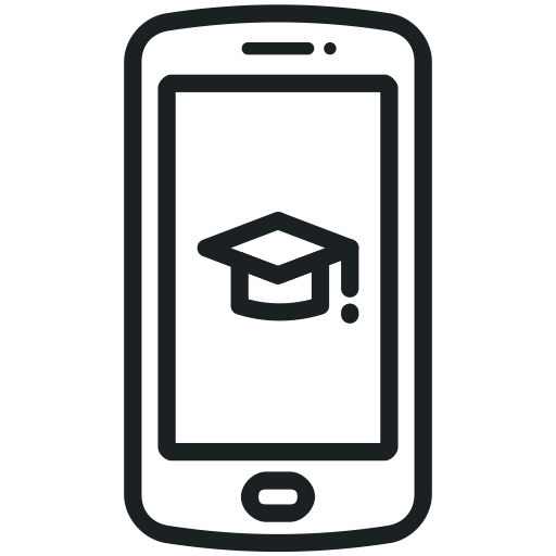 Smartphone Icon, Mobile, Education, Learning Icon