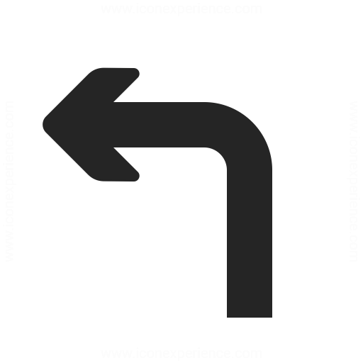 Arrow Turn Left Icon Iconexperience