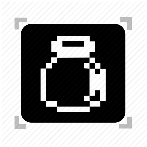 Bottle, Empty, Pixel Icon