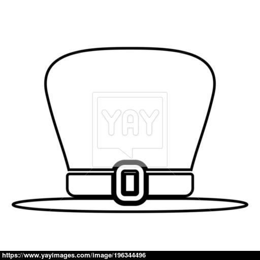 Hat Leprechaun Icon Black Color Illustration Flat Style Simple