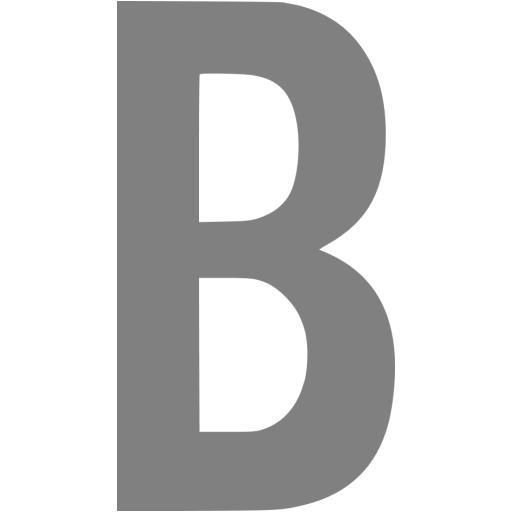 Gray Letter B Icon
