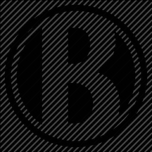 Alphabet, B, Character, Letter, Logo, Round Icon