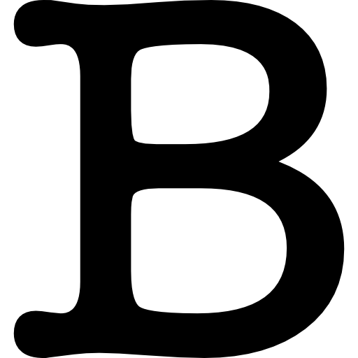 Letter B Symbol Icons Free Download