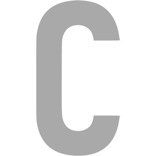 Dark Gray Letter C Icon