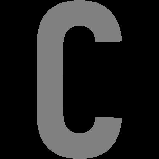 Gray Letter C Icon