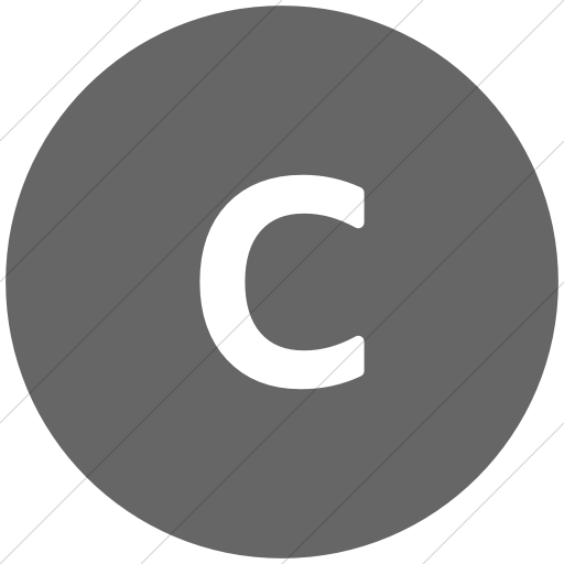 Flat Circle White On Gray Alphanumerics Lowercase