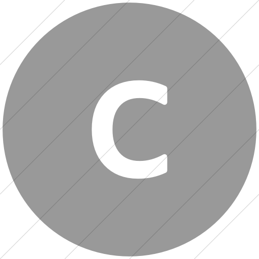 Flat Circle White On Light Gray Alphanumerics Lowercase