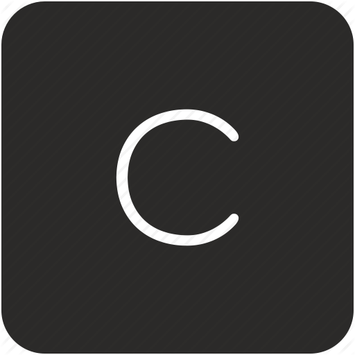 C, Key, Keyboard, Letter, Uppercase Icon