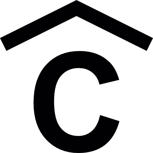 Capital Letter C With A Chevron Arrow On Top Icons Free Download