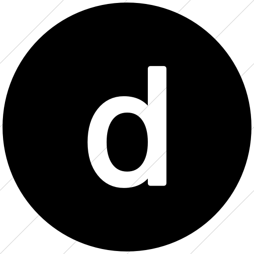 Flat Circle White On Black Alphanumerics Lowercase