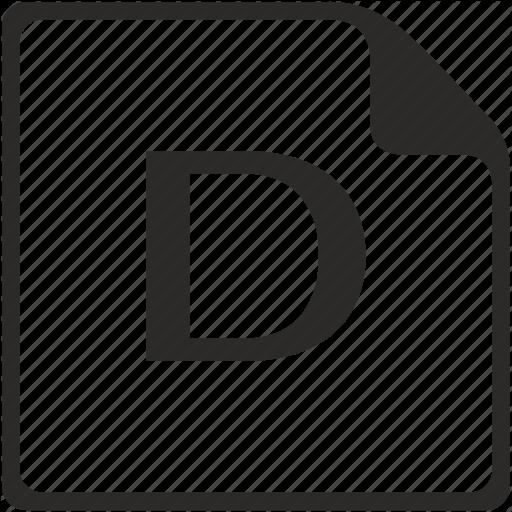 D, Doc, File, Key, Latin, Letter Icon