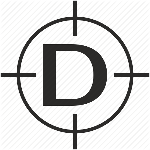 D, Key, Latin, Letter, Target Icon
