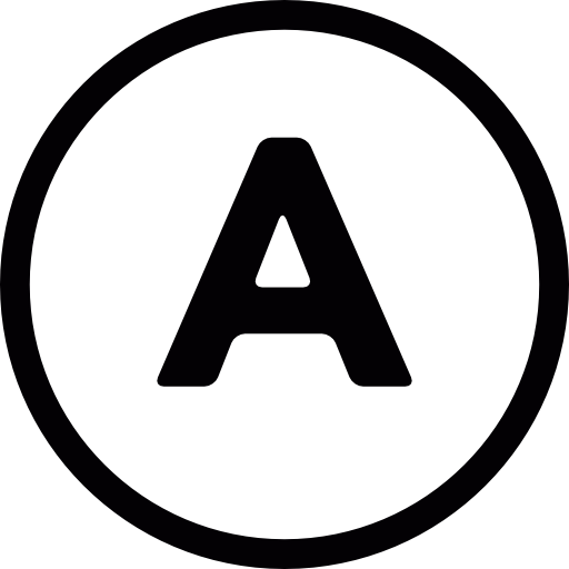 Letter A Inside A Circle