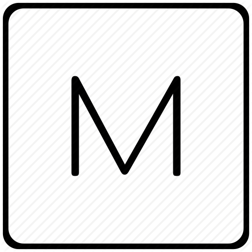 Key, Keyboard, Letter, M Icon