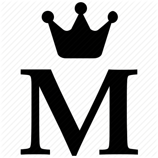 Alphabet, Crown, English, Letter, M, Royal Icon